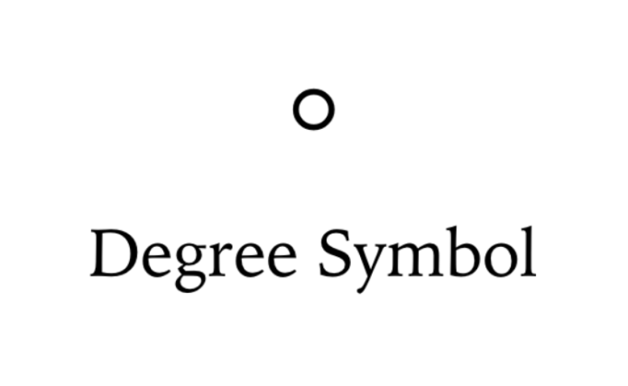 How to use the Degree symbol on Mac OS (OS X)